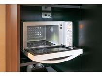 全室電子レンジ完備 コンビニで温めてもらえない冷凍食品も熱々でどうぞ。温め直しにもご利用下さい。