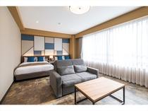 プレミアムツインルーム 広々とした室内、高級レジデンスで素晴らしい時間をお過ごし下さい。
