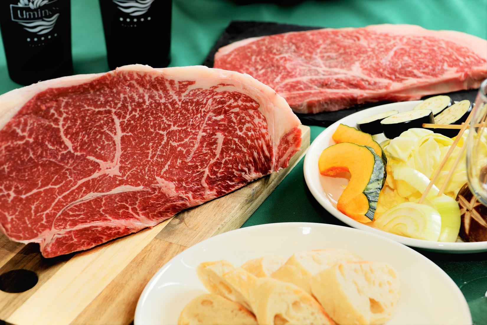 和牛を豪快にステーキでどうぞ!