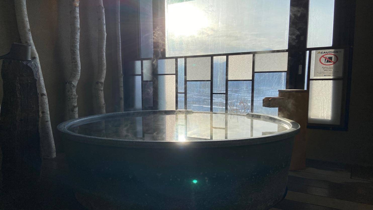 ■貸切風呂【白樺・壺風呂】朝イメージ
