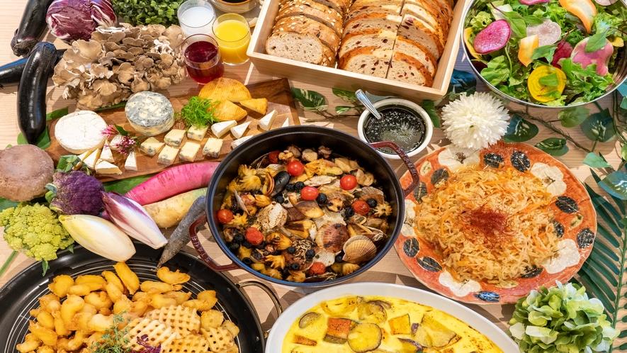 和洋朝食アイテムの数々(イメージ)