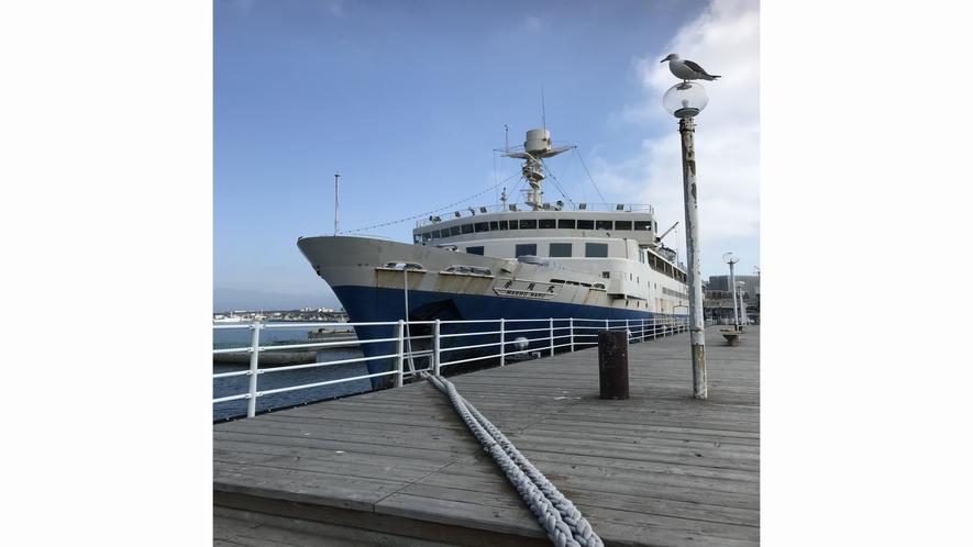 函館市青函連絡船記念館摩周丸(函館の発展に貢献してきた連絡船歴史を知ることができます)