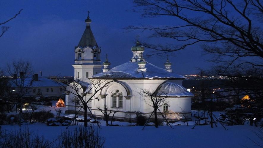 ハリストス正教会(別名がんがん寺と呼ばれる函館のシンボルの一つ)