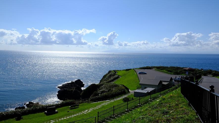 立待岬(晴れた日には遠く青森県を眺められます)