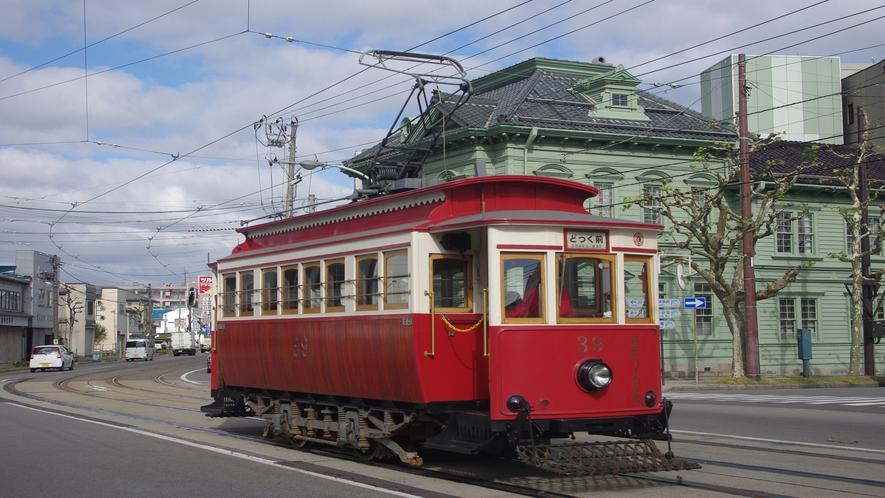 市電箱館ハイカラ號(冬季を除いて運行しています)