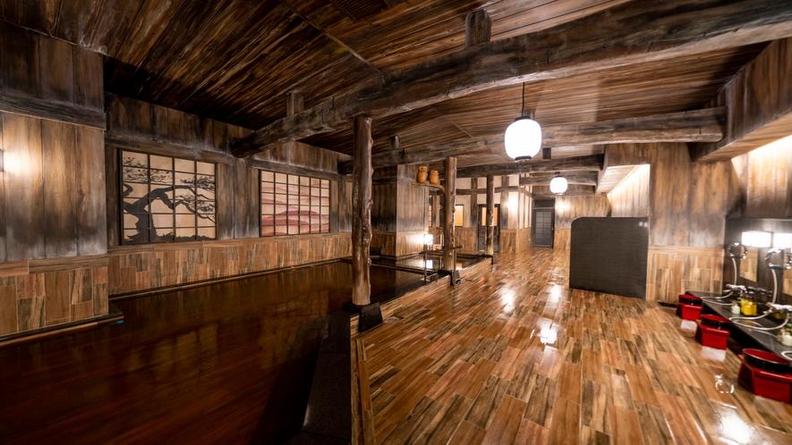 ぽんの湯(内観)ハコビバ内にあるゴールドジムと共用の大浴場