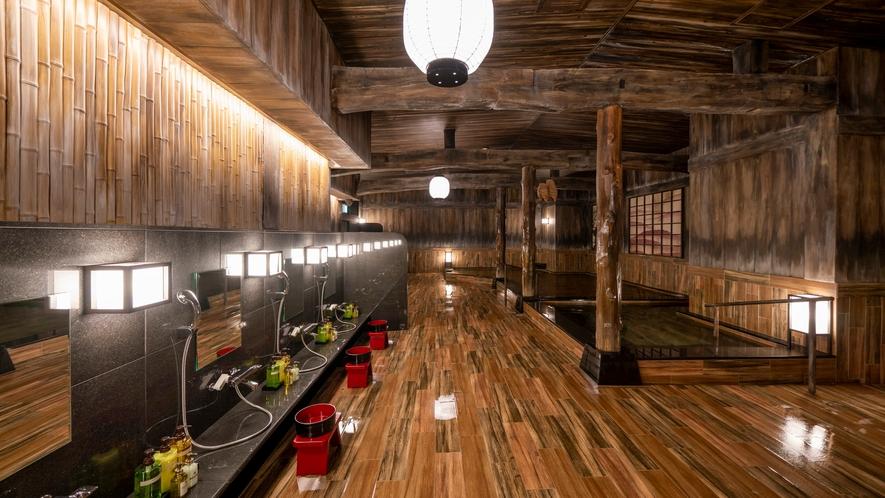 ぽんの湯2(ハコビバ内にあるゴールドジムと共用の大浴場)