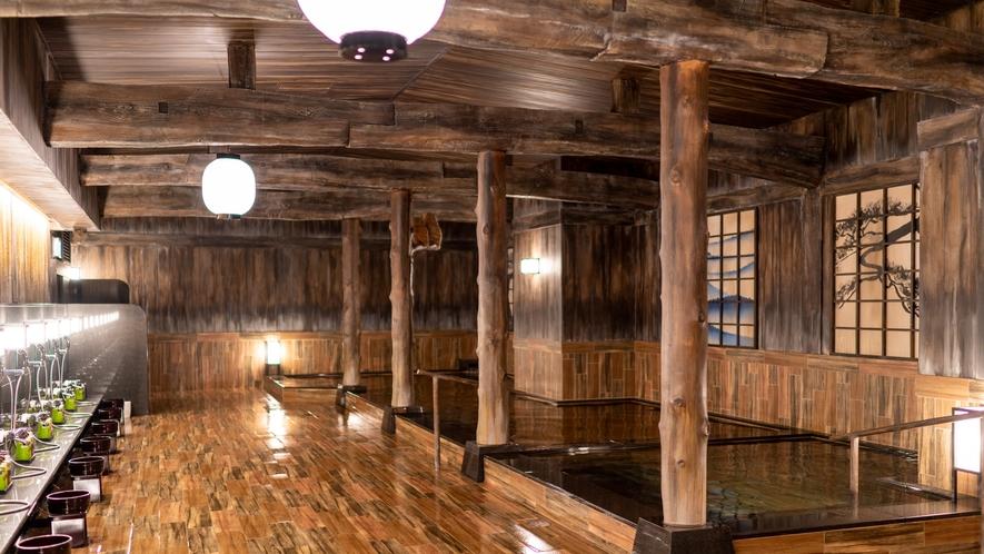 ぽんの湯1(ハコビバ内にあるゴールドジムと共用の大浴場)