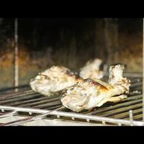 【夕食】桜井産 ニジマスの塩焼き