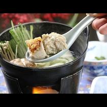 【夕食】地元の野菜を使った鶏鍋