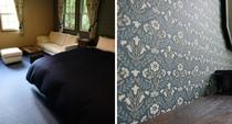 "Room ブルーベル マスターベッドルーム ウィリアムモリスのウォールペーパー""ベルフラワー"""