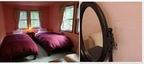 Room ローズ 桜色の天井・壁は100%自然素材使用の漆喰