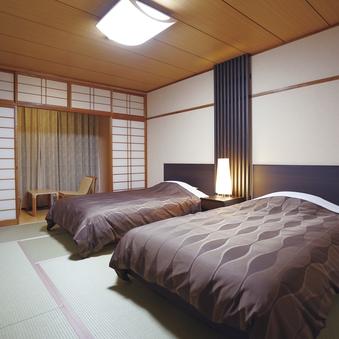 【禁煙】和ベッド(2名定員 10畳+広縁)