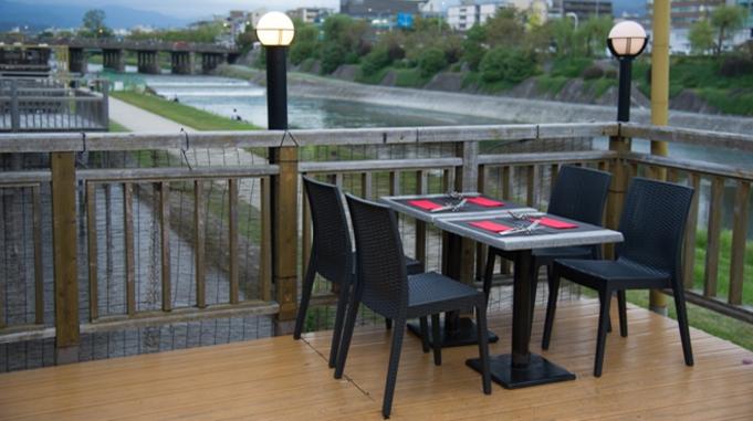 [1泊2食]京都鴨川納涼床夕食付き宿泊プランA みます屋イタリアーノ店17:00~19:00コース
