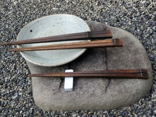 蔵宿オリジナル土産品 炭化箸