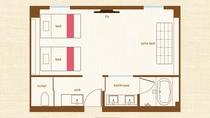 ジュニアスイート平面図(センター部屋)