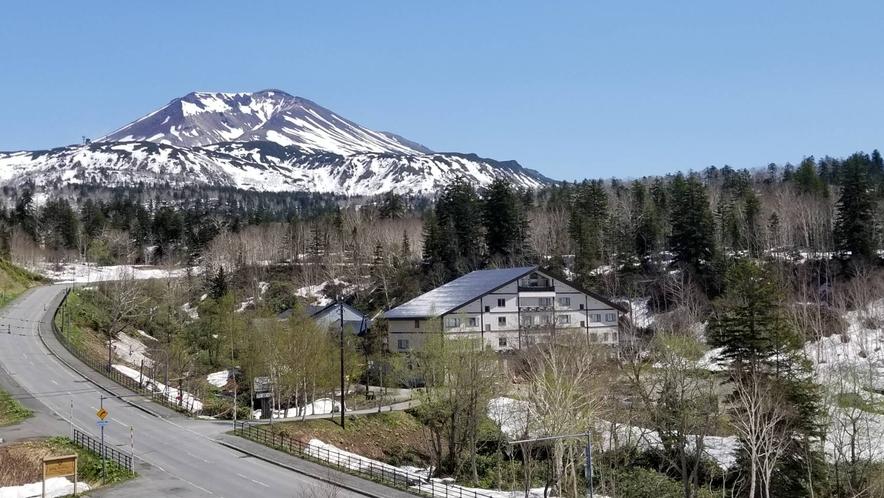 旭岳の見えるお部屋からの眺め