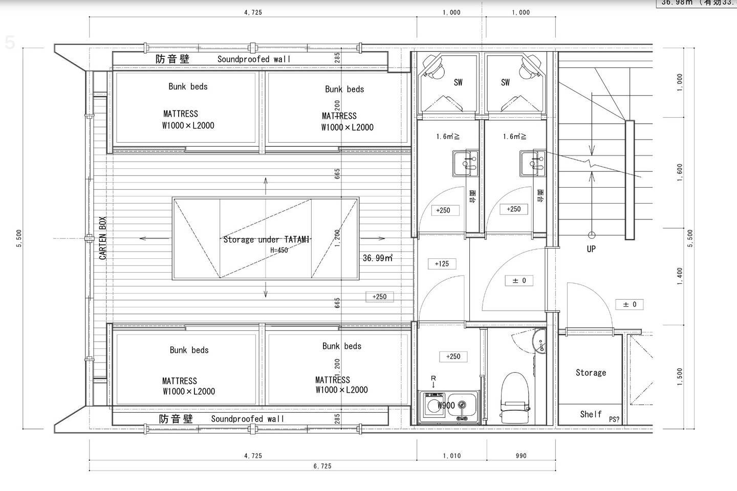 Private 8beds Room (layout)