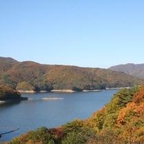 【羽鳥湖】秋の紅葉