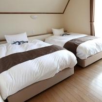 【レイクサイドドッグヴィラ】寝室