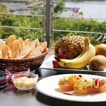【2017朝ごはんフェスティバル】レストランではテラス席でもお食事が楽しめます。