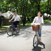 愛犬用かご付き自転車