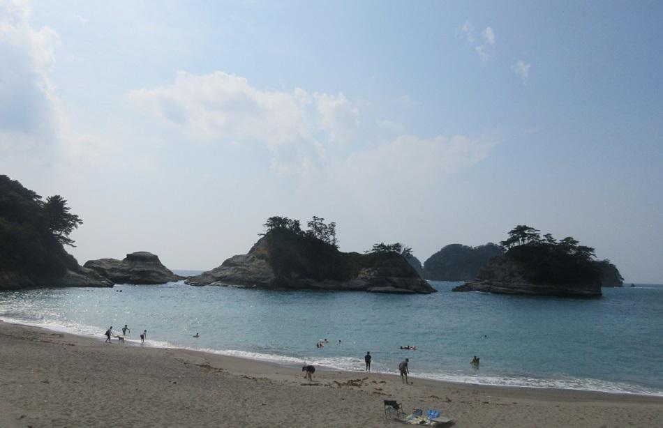夏の終わりの乗浜海水浴場