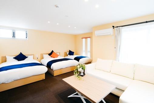 DeluxRoomトリプルルーム 広々 ベッド3台