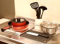 ■客室設備■ 全室調理器具・炊飯器・電気ケトル等、ご用意しております。