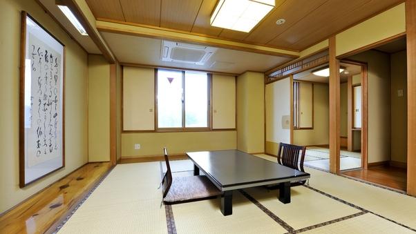 【浜の館】 和室10畳+3畳 国道に面したお部屋です(禁煙)