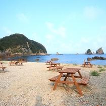 BBQ場◆美しい伊豆の海を眺めながらお食事をお楽しみください