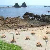BBQ場◆目の前の海を眺めつつ、BBQを楽しめます