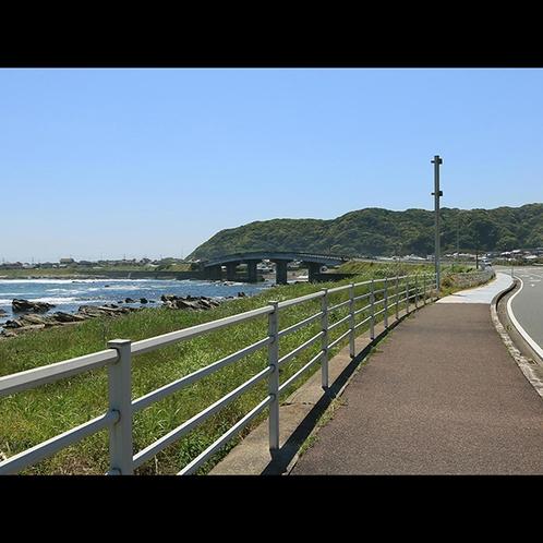 愛犬のワンちゃんと当館前の散策コース☆