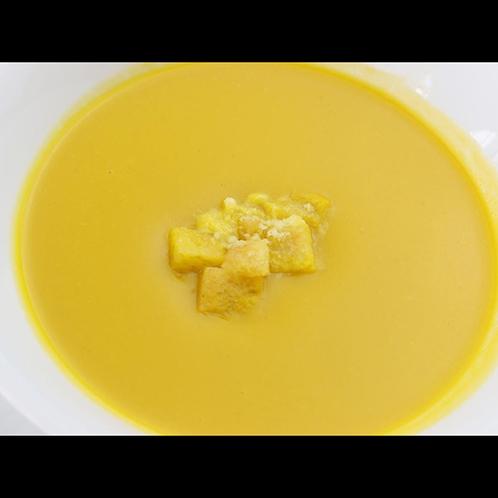 朝食の一例のかぼちゃのスープ☆濃厚で美味しさ格別!