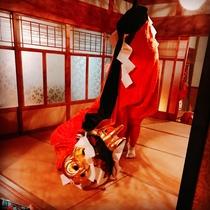 鳥取の伝統芸能 麒麟獅子舞を披露