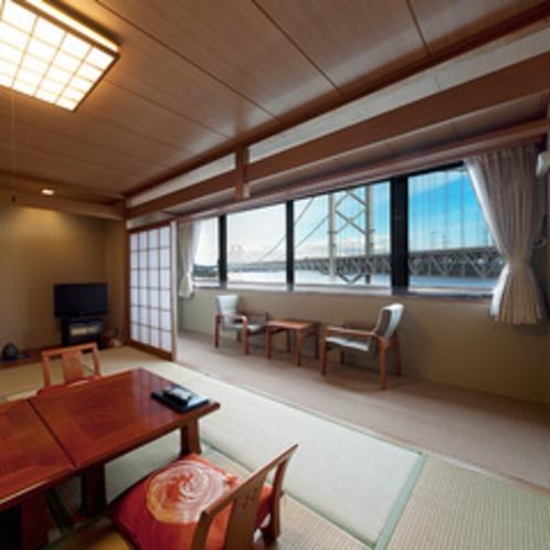 鳴門海峡を眺める感動の眺望和室10畳