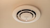 客室天井埋込型ナノイー発生機/Panasonic 客室全室に設置