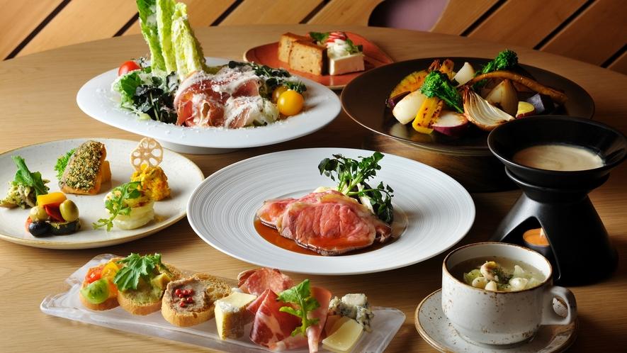 ビュッフェレストラン「SHAKISHAKI」料理一例