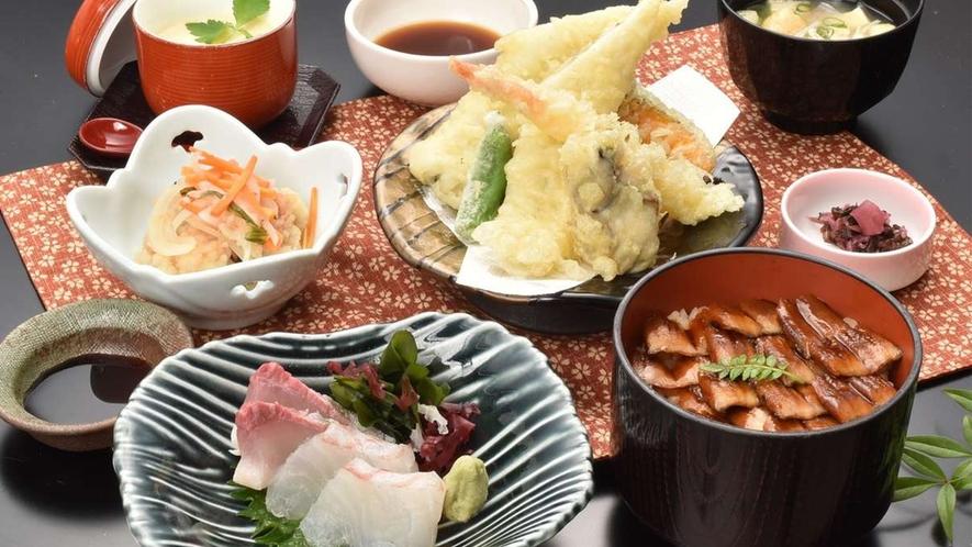 穴子御膳(レストランメニューですので当日でもレストランでお召し上がりいただけます♪)