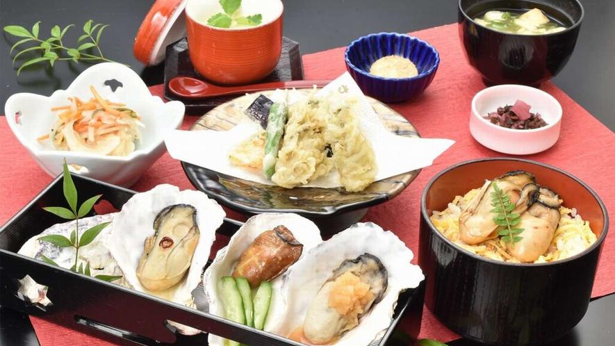 牡蠣御膳(レストランメニューですので当日でもレストランでお召し上がりいただけます♪)