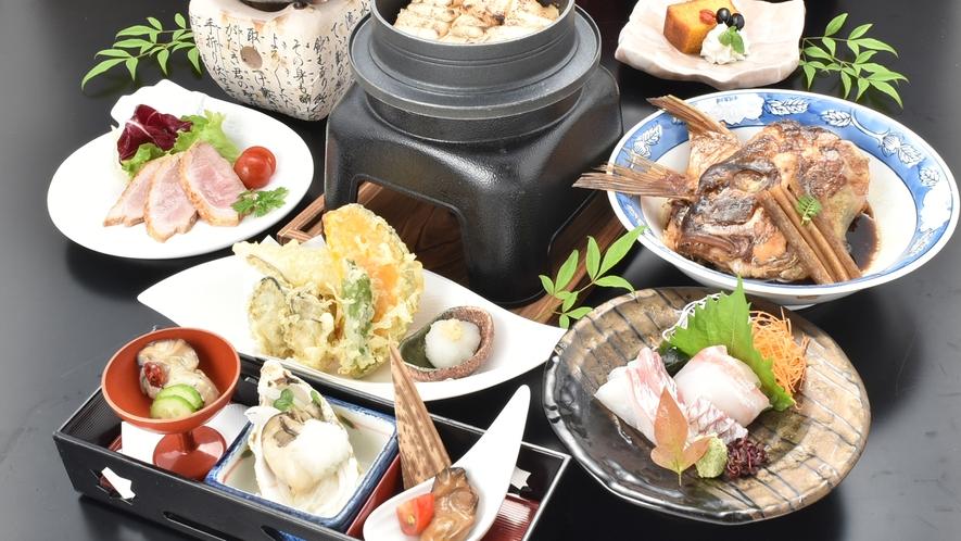 宮島・広島名物を食べるなら☆平清盛会席☆※料理一例