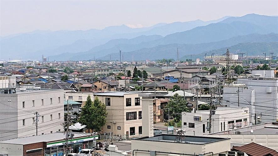 ホテルからの景色(南長野運動公園・ホワイトリンク)
