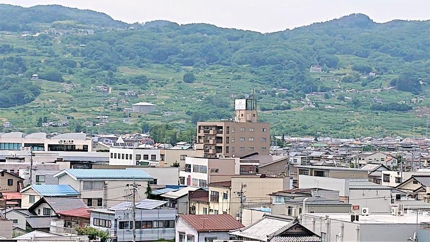ホテルからの景色(篠ノ井駅)
