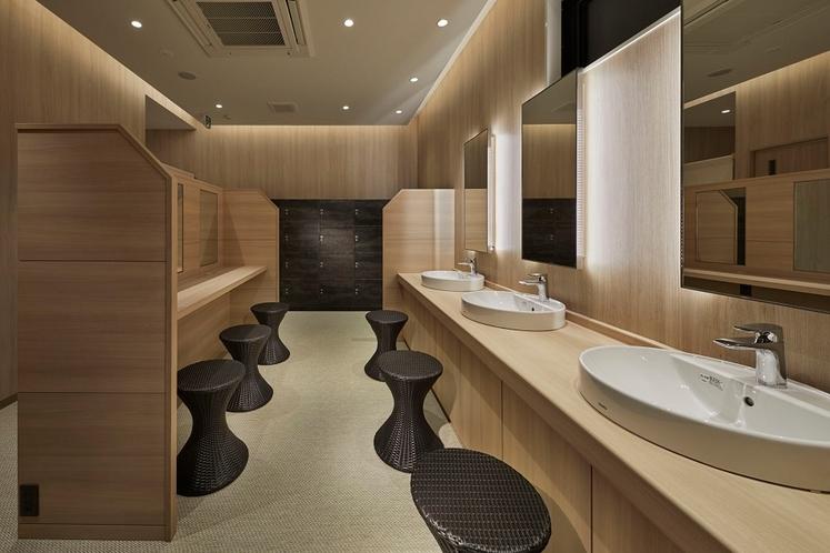 大浴場・衛生的な洗面スペース
