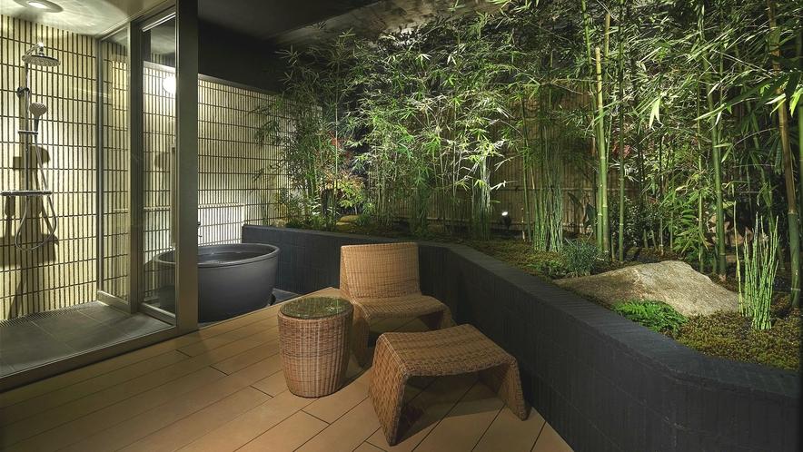 ラグジュアリールーム -MIYABIー (信楽焼露天風呂付き)特別室A 専用庭付き(竹林)