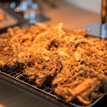 沖縄の味もずくの天ぷら