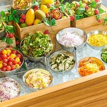 アイスベッドで新鮮サラダ