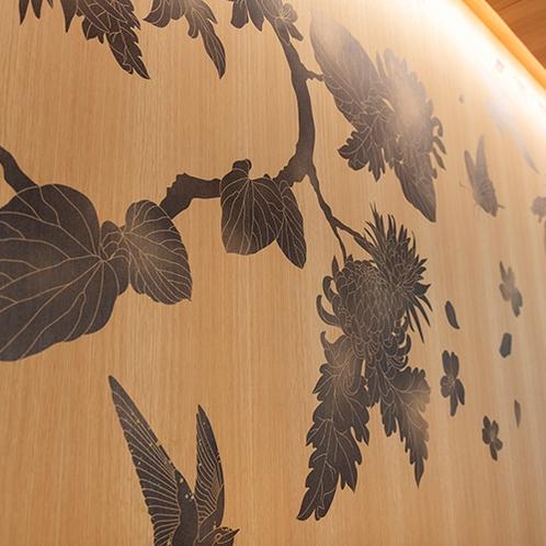 カフェスペース壁面アート