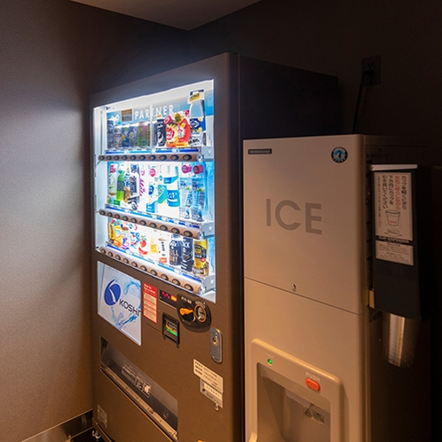 フロント(自動販売機&製氷機)
