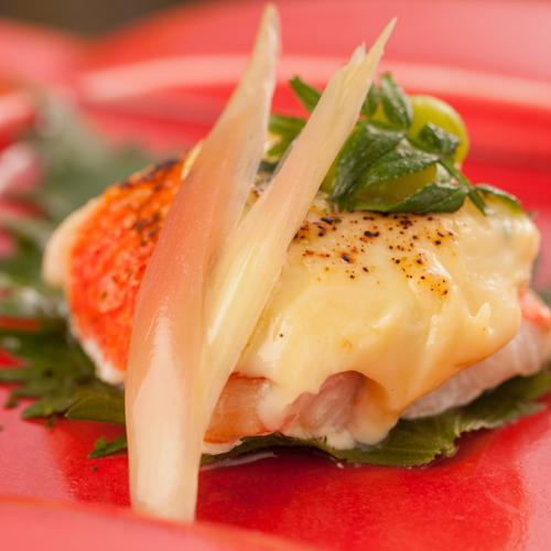 焼物例【金目鯛のねぎ味噌焼】